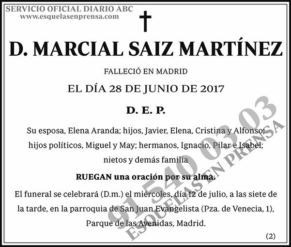 Marcial Saiz Martínez